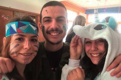 Sacha et les autres volontaires français à l'international